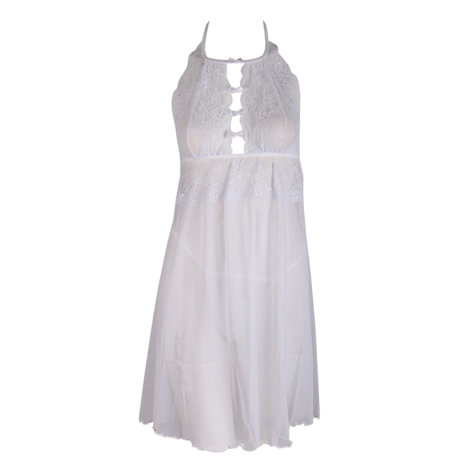 لباس خواب زنانه دانتل سفید